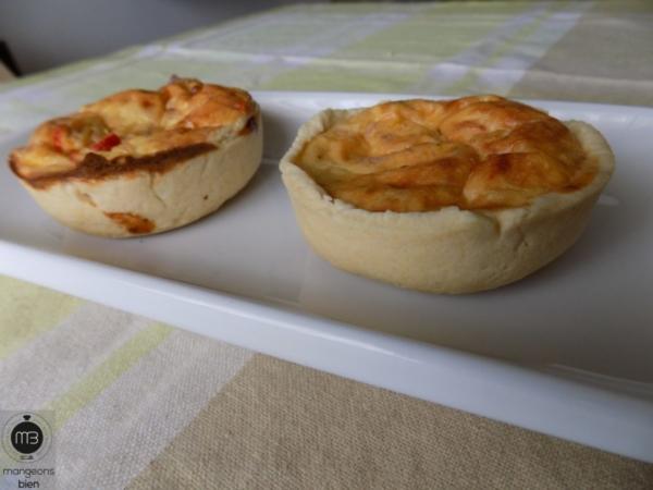 """Quiches aux trois fromages et thon (Crédit Photo: Team """"mangeons bien"""")"""