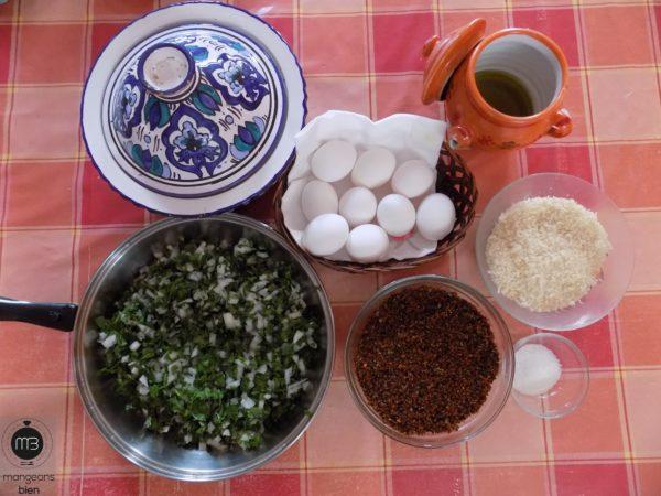 Les ingrédients (Crédit Photo: Abdel Aziz HALI - mangeonsbien.tn)