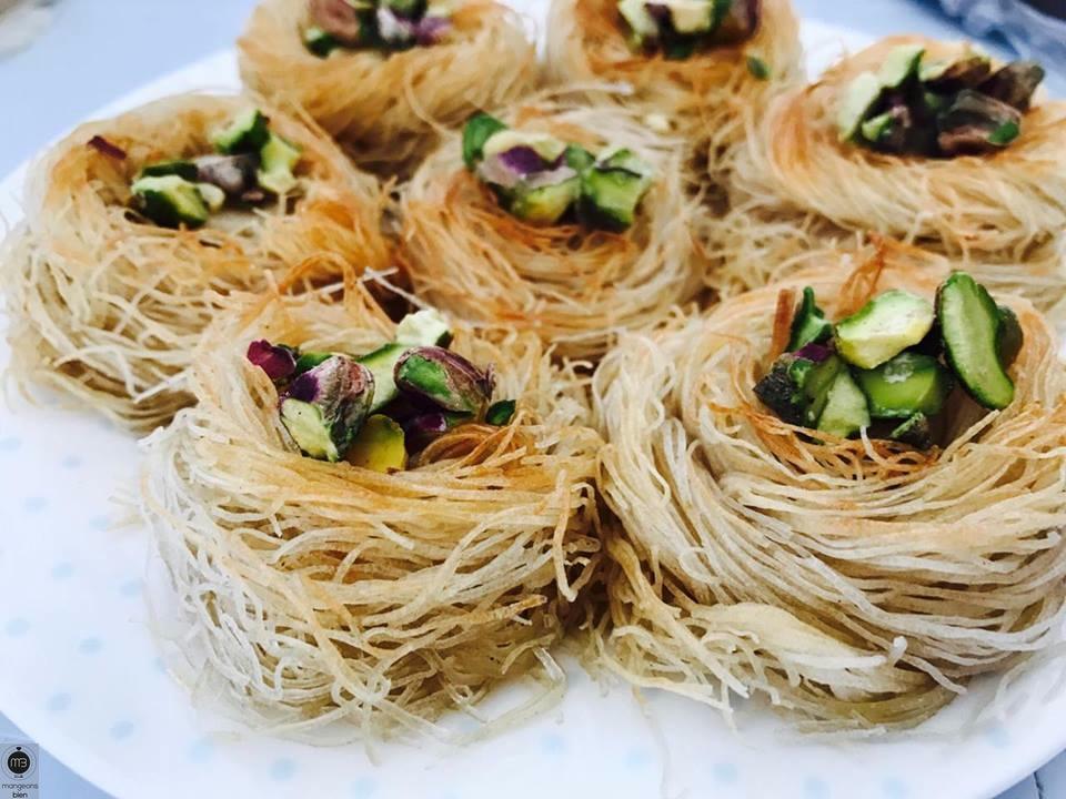 Nids de 'Ktayef' (Crédit Photo: chef Syrine GUETTAT - mangeonsbien.tn)